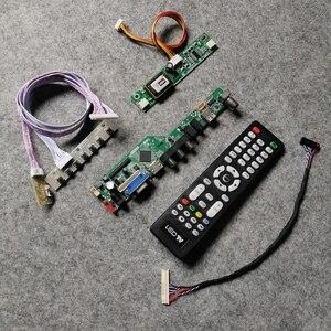 2ccfl vga + av + usb para ltn154xb/ltn154x5/ltn154x9/ltn154at08 lvds tela de 30 pinos diy kit 1280*800 display lcd placa controladora