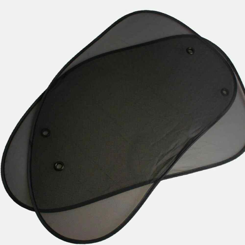 2 個車の窓サンシェードカバーサンシェード交換プライバシー部品サイドサンシェード窓黒カバーカーテン保護シールドメッシュ