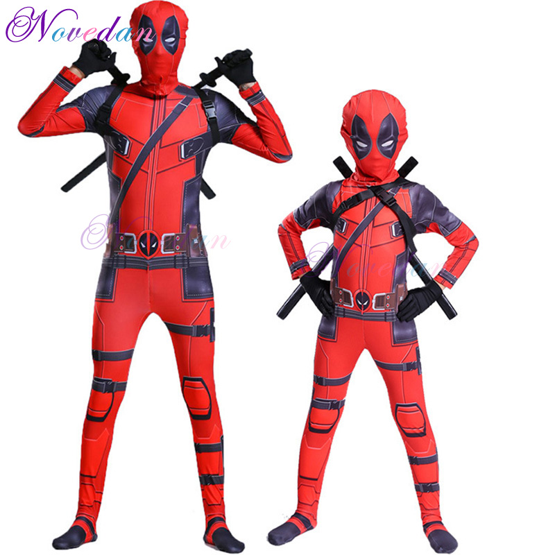 Child Super Hero  Costume With Mask Superhero Bodysuit Cosplay Boy Suit Halloween Costumes For Party