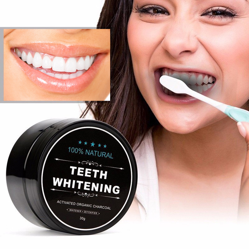 Charcoal Whitening Teeth Powder Activated Organic Charcoal Essence Teethpaste Blanqueador Dental Tool White Teeth Tooth Whitener