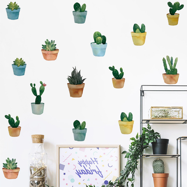 Pot Plant Wall Stickers 4