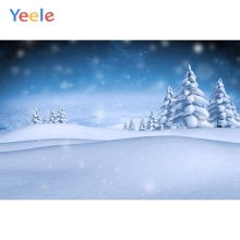 Yeele Christmas Backdrop Winter Tree Snow Forest Mountain Customized Photography Children Birthday Background For Photo Studio