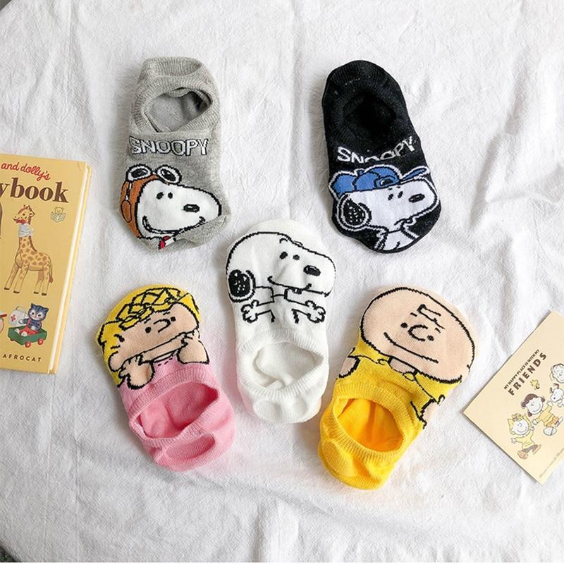 Women Men Summer Low Cut Socks Cartoon Print Unisex Breathable Comfortable Socks