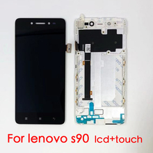 цена на Best Quality For Lenovo S90 LCD Display Touch Screen Digitizer Assembly With Frame S90-T S90-U S90-A Original Replacement Parts