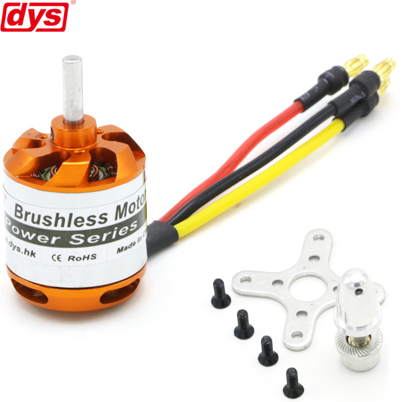 DYS D2836 750KV 880KV 1120KV 1500KV 2-4S Brushless Outrunner Motor For Rc Multicopter