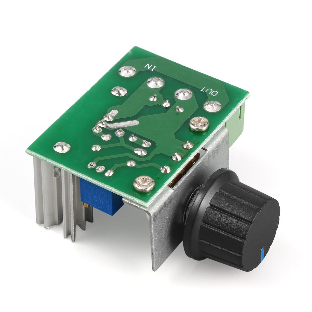 1Pc <font><b>220V</b></font> 2000W Speed Controller SCR <font><b>Voltage</b></font> <font><b>Regulator</b></font> Dimming Dimmers Thermostat Electronic Mold <font><b>Voltage</b></font> <font><b>Regulator</b></font> Module image