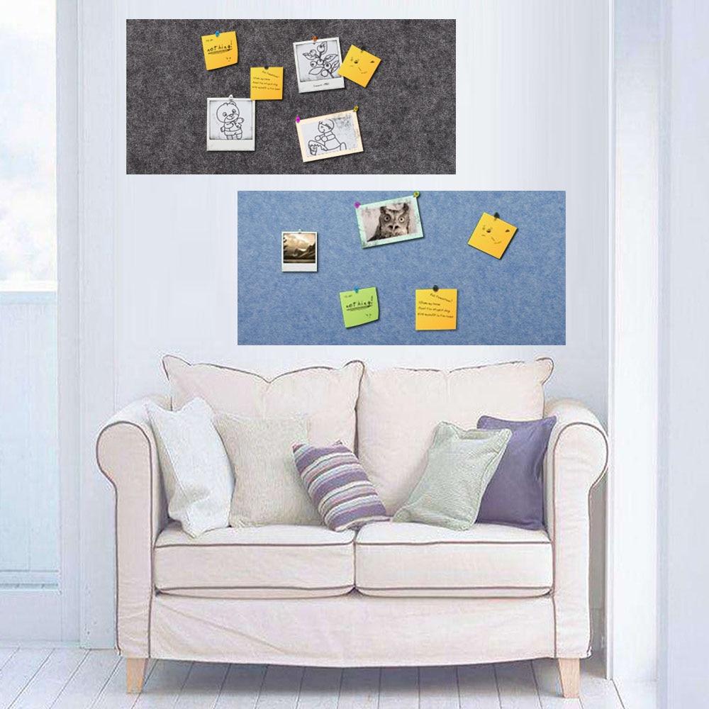 4PCS 30x45cm Self-adhesive Felt Wall Bulletin Memo Letter Message Board Prikbord Photos Display Wall Decoration