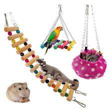 Bed Sugar Glider Hamster Swing-Toys Pet-House Hanging Stairs Animal Rat Small for Pet-Bird