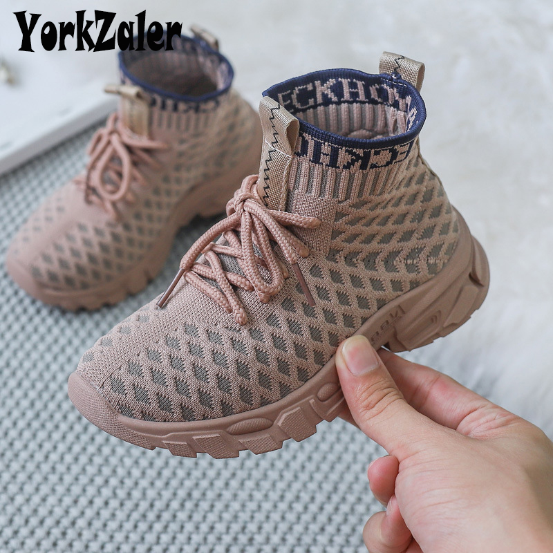 Yorkzaler Spring Autumn Kids Sneakers For Girl Boy High Toe Children Sport Shoes Winter Breathable Toddler Baby Shoes Footwear