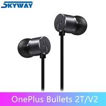 Oneplus original balas 2 t v2 tipo c balas fones de ouvido com microfone para oneplus 7 t pro/7 pro/6 t