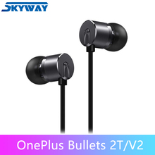 Original OnePlus Bullets V2 2T Earphones In Ear Earphone Headset With Remote Mic for Oneplus 7T /7/6T/6 Mobile Phone