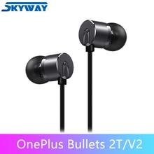Orijinal OnePlus mermi 2 T V2 tip c mermi kulaklık kulaklıklar Mic ile Oneplus 7T Pro/ 7 Pro/6 T