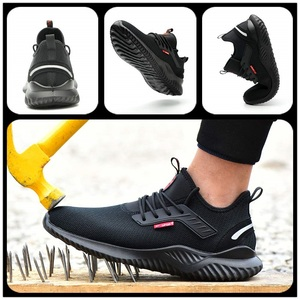 Image 3 - JACKSHIBO All Season Safety Work Shoes Boots For Men Anti Smashing Steel Toe Cap Shoes Indestructible Safety Boots Work Sneakers