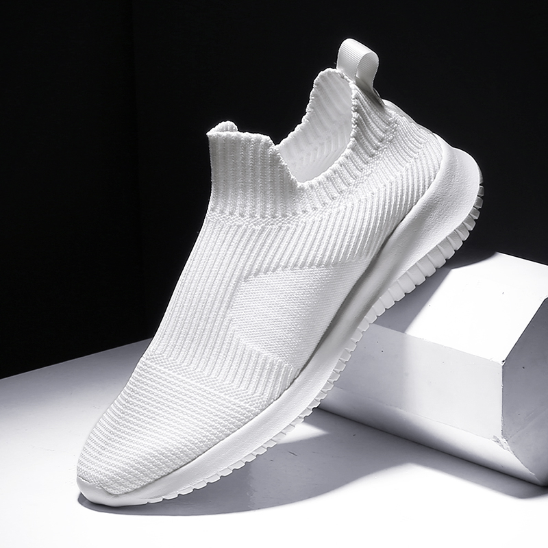 Sneakers Men Lightweight Running Shoes Breathable Knitted Sock Shoes White Jogging Walking Sport Shoes Male Casual Shoes 1