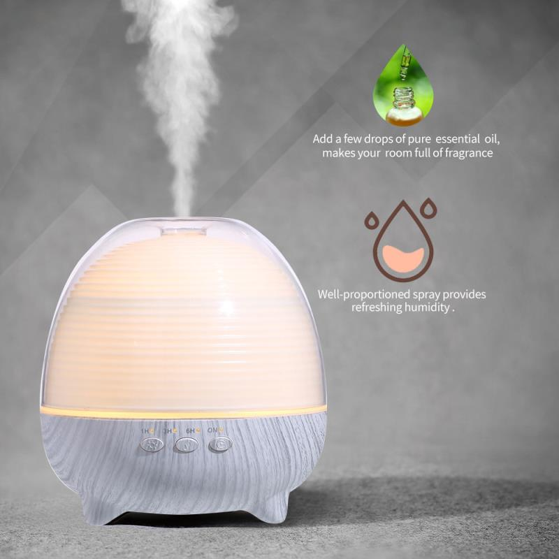 600ML Aroma Diffuser Air Humidifier With LED Lamp Aromatherapy Difusor For Home Ultrasonic Cool Mist Essential Oil Diffuser