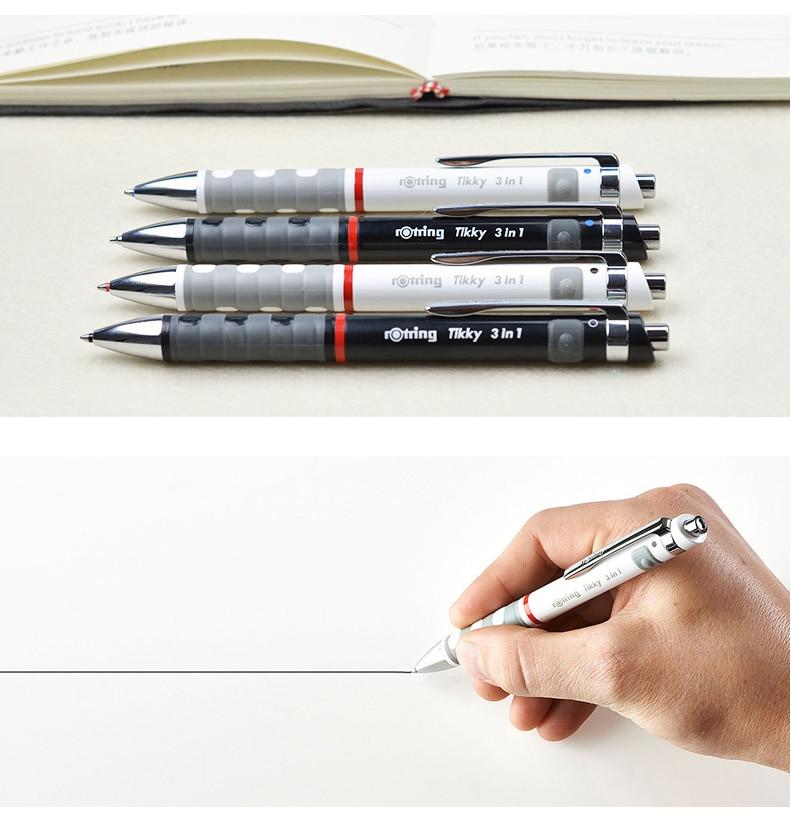automático 2 cores esferográfica caneta