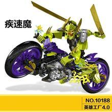 10188 Super Hero Factory 4 Star Soldier Speed Demon Motorcycle Building Block Toy
