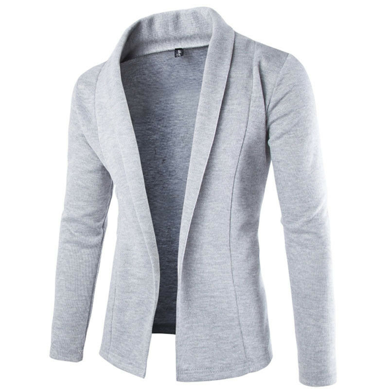 Mens Korean Slim Fit Fashion Cotton Blazer Suit Jacket Black Gray Plus Size M To 2XL Male Blazers Mens Coat Wedding