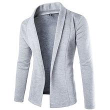 Mens Korean slim fit fashion cotton blazer Suit Jacket black Gray plus size M to