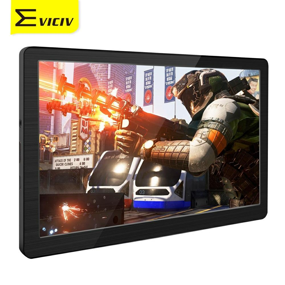 Eviciv 7 Inch Mini Monitor for Laptop PC 0.5lb Light Weight External Screen IPS Portable Display 60Hz HDMI Game Console VESA USB
