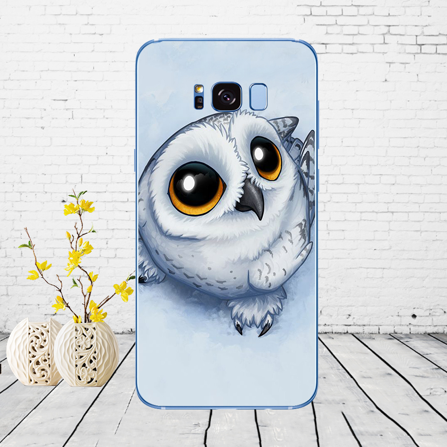 56DD Owl Soft Soft Silicone Cover Case For Samsung Galaxy S6 S7 Edge S8 S9 S10 Plus A70 A50 Case