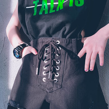 Girls Shorts Summer Fashion Hight Waist Bandage Hiphop Dance Shorts 8 10 12 years Kids Teen Gilrs Outfit