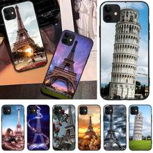 MayDaysmt Tower of Pisa Newly Arrived Black Cell Phone Case For iphone6 6s plus 7 8 7 8 plus X XR XS MAX 11 Pro Max Cover italian flag style graffiti leaning tower of pisa pattern case for samsung s6812 s6810 green