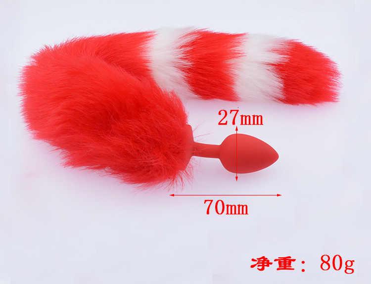 Kadın için seks oyuncakları yetişkin seks Cosplay Neko kulaklar rol oynamak tilki kuyruğu Butt Plug Bdsm yaramaz seks kıyafet Anal plug kuyruk yetişkin oyunları