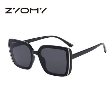 Okulary przeciwsłoneczne damskie 2020 damskie okulary vintage okulary przeciwsłoneczne okulary letnie moda okulary kwadratowe duże ramki Oculos De Sol tanie i dobre opinie zyomy CN (pochodzenie) WOMEN SQUARE Dla dorosłych Z poliwęglanu UV400 58mm 63mm 200001267 200002146