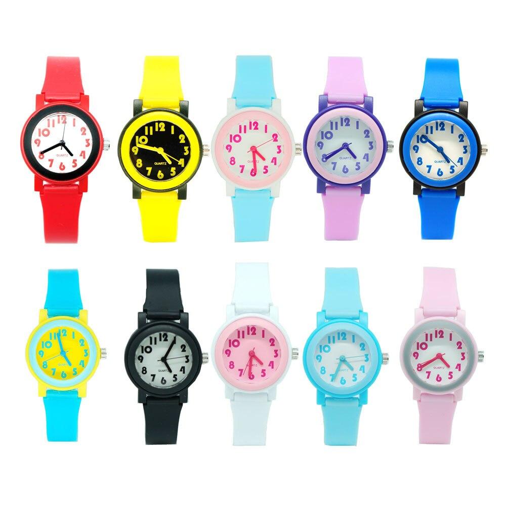 Kids Watches Japanese Seiko Quartz Movement PVC Watchband High Quality PC Watch Case Multi Color Boys Girls Baby Children Watch