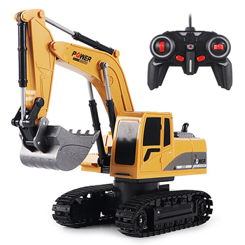 RC Excavator Toy 2.4Ghz 6 Channel 1:24 RC Engineering Car Alloy And Plastic Excavator 6CH And 5CH RTR For Kids Christmas Gift rc alloy 1 24 excavator real remote control car engineering vehicle model toy five channel excavator for children toy