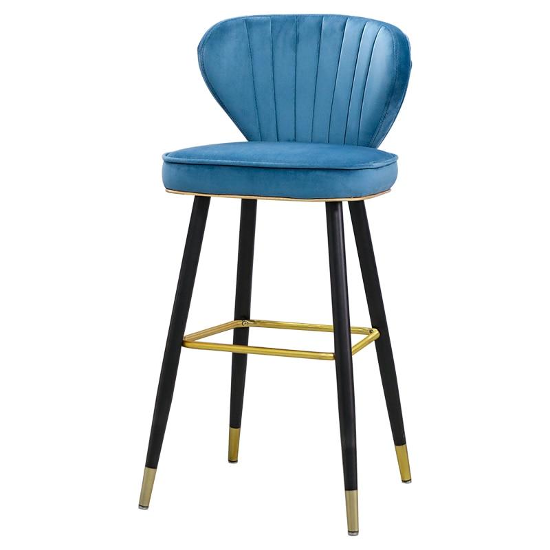 Nordic Light Luxury Home Bar Chair Simple Bar Chair Bar Stool Front Desk Hotel High Chair Island Chair