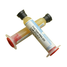 high quality RMA-223 10cc BGA solder paste flux IC SMT Reballing Tools for mobile phone chip repair syringe solder oil cheap RMA-223 BGA solder paste 1-10μm