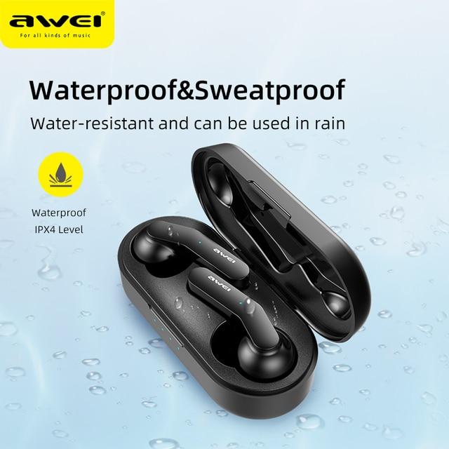 Awei T10C Handsfree Bluetooth Earphone Headset True Wireless  4