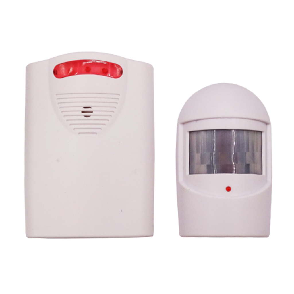1Pc Wireless Driveway Security PIR Motion Sensor Alarm No Wiring Needed 18x14x5cm/7.09x5.51x1.97inch
