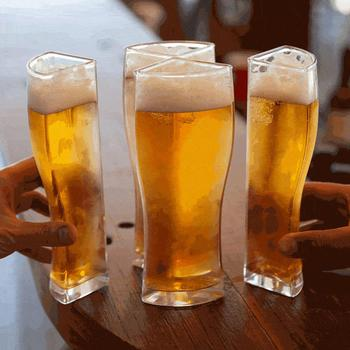 Super Schooner Beer Glasses Mug Cup Separable 4 part Large Capacity Thick Beer Mug Glass Cup Transparent for Club Bar Party Home