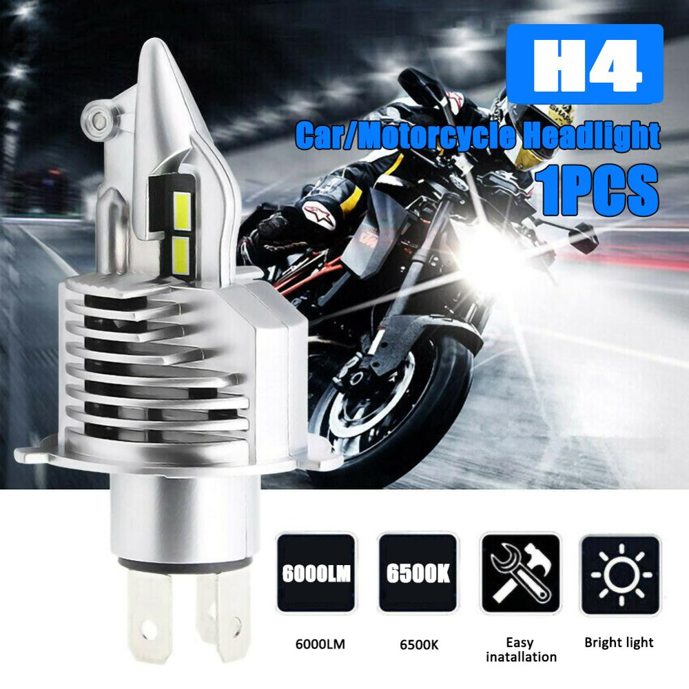 1PCS H4 9003 HB2 6000LM 6500K LED Bulb Hi/Lo Beam HID White Car Motorcycle Headlight High Power Wholesale Quick Delivery CSV