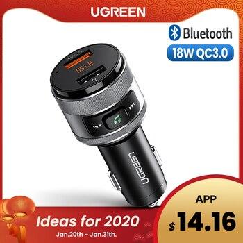 Ugreen Usb Caricabatteria da Auto Bluetooth Fm Trasmettitore di Controllo Rapido 3.0 Carica Caricatore per Xiaomi Samsung Iphone Huawei QC3.0 Caricatore Veloce