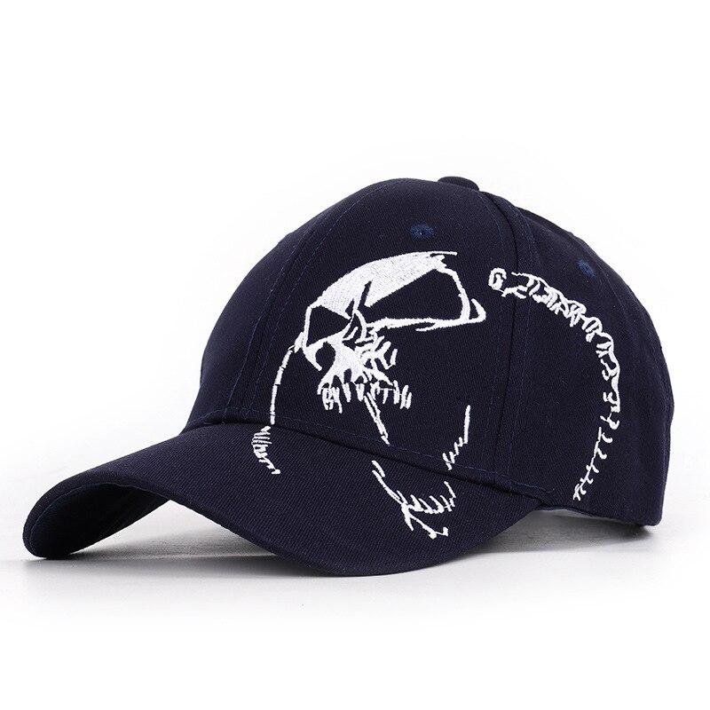 Men Baseball Cap Skull Embroidery Adjustable Hats High Quality Unisex Cotton Caps Women Snapback Simple Fashion Bonnets Sun Hat