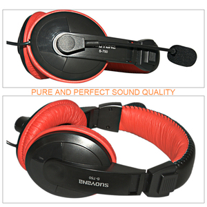 Image 2 - Stereo Bass Computer Gaming Headset On ear Wired Headphone 3.5mm AUX Earphone With Microphone For PC Phone Computer Game Skype