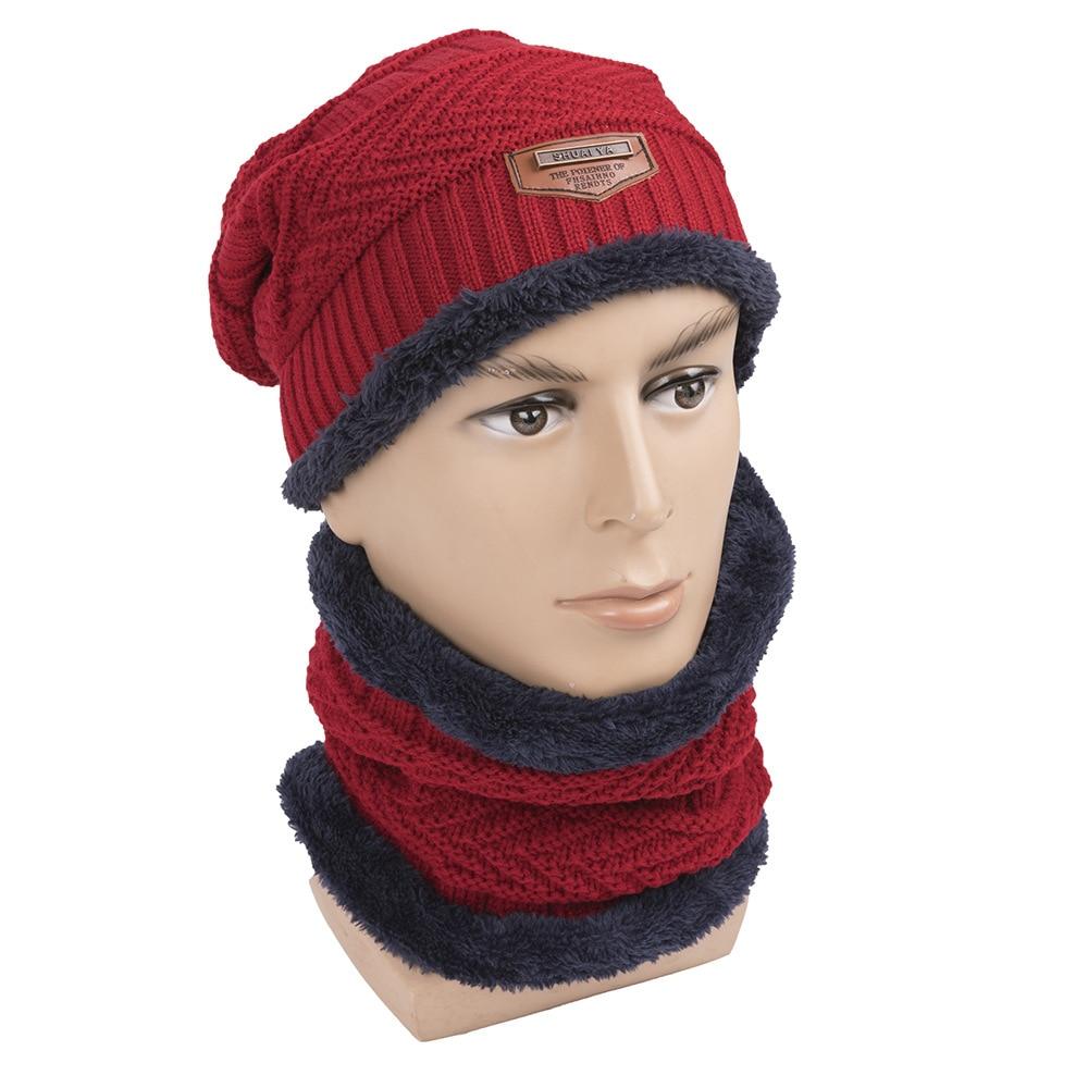 2019 Woman Man Hat Collar Suit Autumn Winter New Unisex Knitted Bib Hat Warm Outdoor Plus Velvet Travel Collar Single Ring Wild
