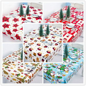 New Year 2021 Table Decorations Disposable Tablecloth Christmas Decorations for Home Navidad Noel DIY Ornaments Natal Xmas Decor