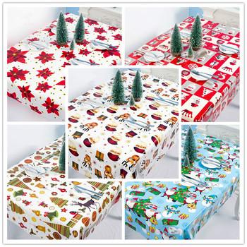 Nowy rok 2021 dekoracje stołu jednorazowe obrusy ozdoby choinkowe dla domu Navidad Noel DIY ozdoby Natal wystrój bożonarodzeniowy tanie i dobre opinie HOUHOM CN (pochodzenie) PD1022 Bez pudełka Disposable party tablecloth 110x180cm