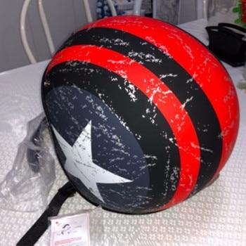 цена на Mens womens half Motorcycle helmet vintage helmets with inner lens size 53-61cm XS/L/XL/XL