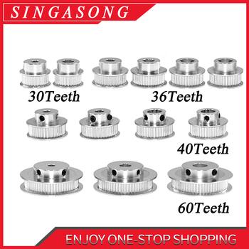 1 sztuk nowy GT2 koło rozrządu 30 36 40 60 zębów koła otwór 5mm 8mm aluminium biegów zęby szerokość 6mm części do Reprap 3D części do drukarek tanie i dobre opinie Usongshine GT2-6 Stop