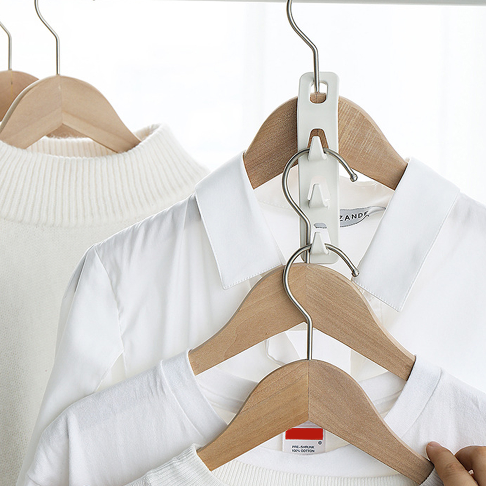 4 Pcs Clothes Connection Hook Multi-Functional Space Saving Connector Hook Clothes Connection Hanger For Closet