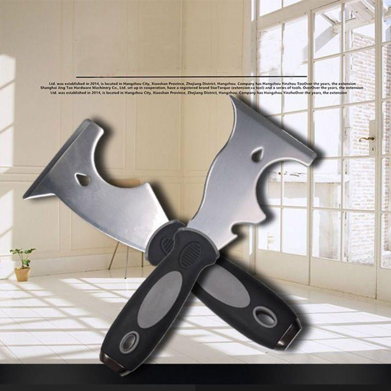 Stainless Steel Paint Putty Scraper 7 In 1 9 In 1 Tool Spackle Knife Caulk Removal Tool Painters Tool For Wood Wallpaper Scraper