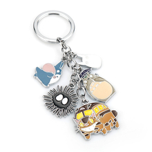 Keyrings Backpack Keychain Anime Away Totoro/spirited Women Jewelry Llavero Key-Buckle