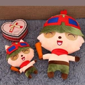 [Смешная] Очень милая мягкая плюшевая игрушка Teemo в виде гриба, 25 ~ 80 см, LOL, онлайн-игра, кукла-герой, модель, подушка, дети, девочка, подарок