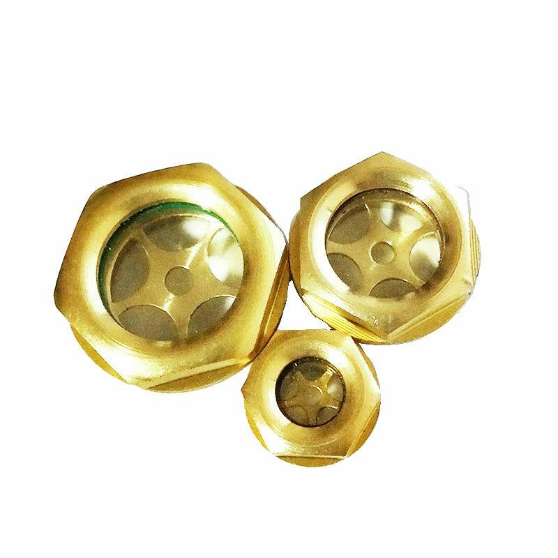Brass Oil Level Sight Glass Window Air Compressor 1/4